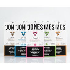 THE JONES PODS[10 - (5 pack)] 1.2ML JUUL COMPATIBLE PODS 45MG