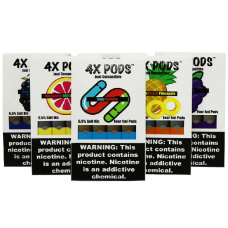 4X NICOTINE SALT PODS - JUUL COMPATIBLE [4 -(4pack)]