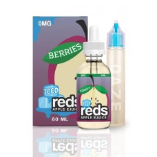 7 DAZE - REDS ICED BERRIES APPLE E-JUICE - 60mL (ICED)