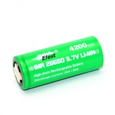 Efest Green 26650 4200mah 50Amp Flat Top IMR Battery