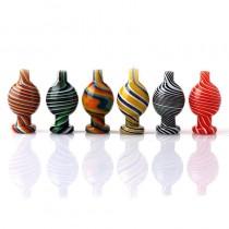 GLASS CAPS - BUBBLE CARB CAPS (assorted colors)