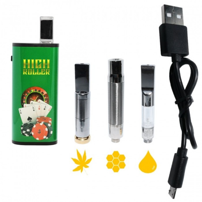 Honeystick High Roller - 3 in 1 Vape Pen for Oil, Wax and